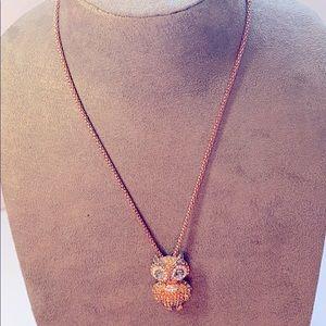 Rose gold owl 🦉 necklace